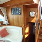 Sallon looking aft - steps up t aft deck and down to Master en-suite cabin