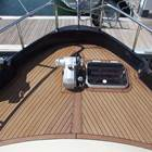 Foredeck  - hydraulic winch and LPG deck locker