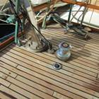 New teak decks with S/S davitits and Lewmar handling winches