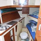 Forward crew/cabin toilet and wash basin