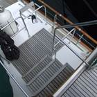 Safe stairs from deck to flybridge