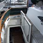 Aft deck deep and spacious lazarette and deck lockers