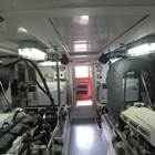 Spacious easy access engine room