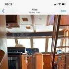 looking forward from saloon through galley area to pilothouse