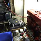 Sabre Lehman 135 hp deisel engine starboard side with 220 VAC alternator