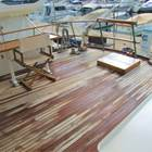 Large aft deck under bimini top for entertaining